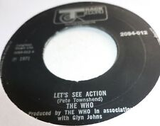 """THE WHO 7""""   Let's see action   UK JUKEBOX 7"""""""