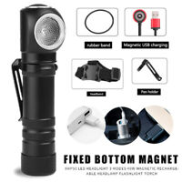 XHP50 LED Headlight Magnetic USB Rechargeable Headlamp Flashlight Torch