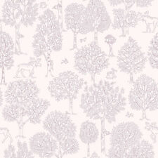 JR3302 - Jack N Rose Junior Pink Trees Birds Galerie Wallpaper