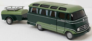Wiking NEW HO 1/87 Classic 50's-60's era Mercedes Panorama Bus in 2-Tone Green