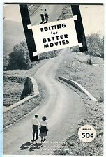 Editing For Better Movies Booklet 1955 The Kalart Company EX 100516jhe