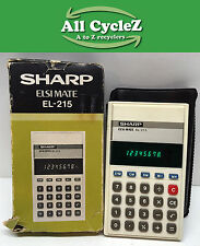Sharp EL-215 Electronic Calculator Working Condition! Vintage 1980 Collectable!