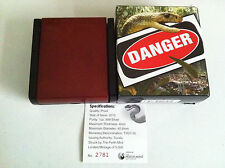 $1 DDS  EASTERN BROWN SNAKE 1OZ SILVER PROOF COIN