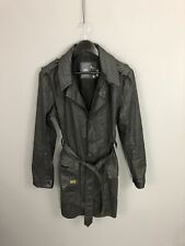 G-STAR RAW Waxed Trench Coat - Size Large - Black - Great Condition - Women's