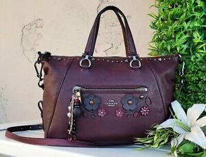 Coach WILLOW applique primrose leather crossbody satchel Purse handbag 55518 EUC