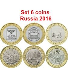 Set 6 coins 10 rubles  Russia 2016 year bi-metal