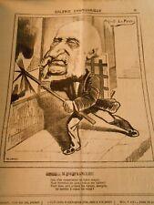 Caricature 1874 - Galerie Charivarique M. Defranclieu vitriers