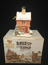 "Lilliput Lane Mistletoe Cottage Ornament 3"" Tall with COA NIB!"