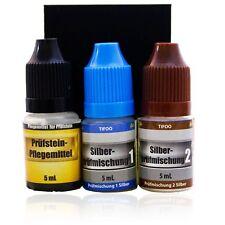 Silber-Test-Set, 2x 5 ml Prüfsäuren mit Prüfstein - Silber testen, Silber-Tester