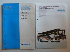 WEBASTO acqua CALORIFERI DW 230/300/350 installazione istruzione + prospetto per gli autobus si