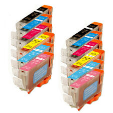 12 PK Ink Cartridges with PC PM + Chip for Canon Series Cli-8 iP6600D iP6700D