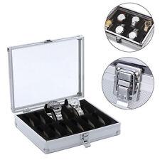 12 Grid Slots Wrist Watch Display Box Storage Holder Organizer Case Aluminium