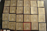 24 Assorted GB Gold Horizon Machin Labels, Kiloware Stamps~on paper~H~ UK Seller