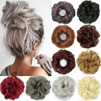 Curly Messy Natural Easy Bun Scrunchie UK Hair Piece Updo Bridal Extension Hijab