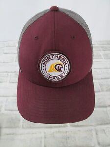 Northern Wake  Snapback Baseball Hat Cap Adjustable Maroon Grey Water Surf Patch