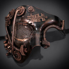 Steampunk Phantom Theater Masquerade Mask for Men - Metallic Copper
