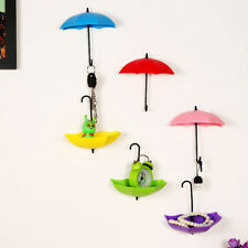 3x Parapluie Crochet Collant Mural Porte Accroche Pin Porte-clé Rangement Maison