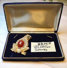 Signed Brooch Valentino