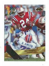 1993 Wild Card 10 Stripe #145 Jon Vaughn Patriots