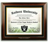 LAS VEGAS RAIDERS NFL Football Fan Certificate / Diploma Man Cave GIFT Fathers