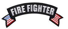 LARGE FIREFIGHTER ROCKER BACK PATCH Patch - Veteran Owned Business