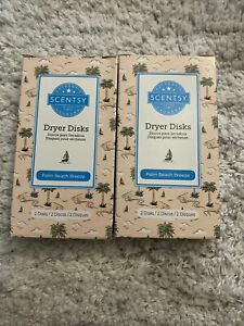X2 Scentsy Laundry Dryer Disk Bar 2 Pack Palm Beach Breeze