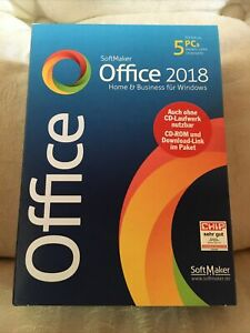 SoftMaker Office 2018 Home & Business Windows 5 PC´s Neu OVP