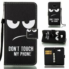 Don't touch my phone patterns case for various phones pu leather wallet cover