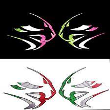 APRILIA Leones Cabeza italiano reflectante de Gráficos Pegatinas Calcomanías X 2PCS pequeña