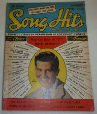Song Hits Magazine Pat Boone & Boyd Bennett November 1955 120614R