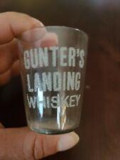 Pre Prohibition Pre Pro Whiskey Shot Glass Gunter'S Landing Whiskey!
