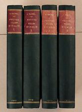 PETITES VILLES D'ITALIE André Maurel 4 vol. 1907 Toscane Ombrie Pouilles Sicile