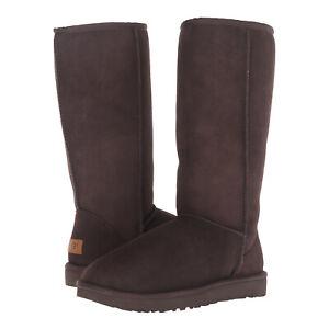 UGG Classic II Tall 1016224 Chocolate Suede Sheepskin Boots 6 37