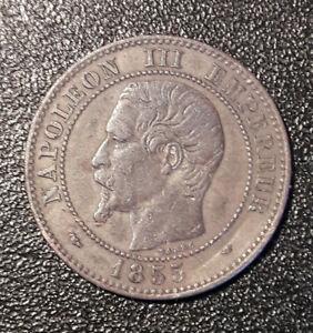 RARE: Piéce de 2 Centimes Napoléon III ( # chien levrette) 1855 MA MARSEILLE