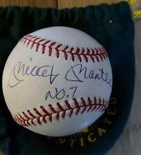 Upper Deck MICKEY MANTLE No. 7 Signed Bobby Brown Rawlings OAL Baseball +Box UDA