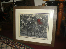 Superb Joy Jerviss Lithograph-Butterfly In The Garden Blue-Signed & Numbered
