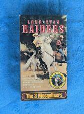 THE 3 MESQUITEERS Lone Star Raiders VHS Tape 1940 B&W Western Robert Livingston