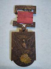 1940 Manchuria National Census Memento Medal with Ribbon and Pin
