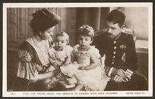 Sweden Royalty. The Crown Prince & Princess of Sweden & Children - RP Postcard