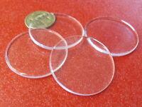 "1/8"" (.118"") Thick x 1.75"" (1 3/4"") Diameter Acrylic Circle Disc Clear 8 Pcs"