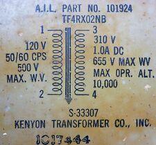 1 Nos Kenyon S-33307 Transformer 120 V / 310 V @ 1.0A Dc 655 V Max