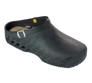 Scholl Clog EVO Rubber Healthcare Nurse Mules Clogs Sandals Black UK10.5/11