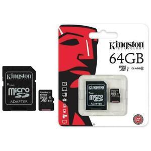 Kingston Micro SD SDHC memory Card Class 10 16GB 64GB 32GB Memory with SD card