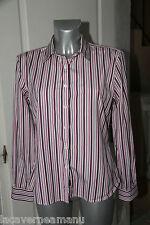 jolie chemise cintrée rayée rose femme FACONNABLE taille 42  ÉTAT NEUF