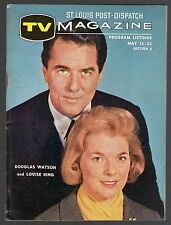 1965 ST LOUIS POST DISPATCH TV MAGAZINE~COVER'S ONLY~LOUISE KING DOUGLAS WATSON
