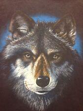 Used Wolf Soft T Shirt Wilderness Moose Bear Pack Hunt Trap motorcycle biker bar
