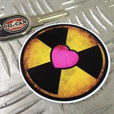 Etiqueta engomada de radiación de protones de los Cazafantasmas Pack 75mm X 75mm Ecto 1 Prop