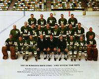 NHL 1967 - 68 Minnesota North Stars 1st Team Photo  Color 8 X 10 Photo Free Ship