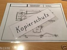 Maßplan Bodengruppe Ford Taunus P 5  17 M und 20 M
