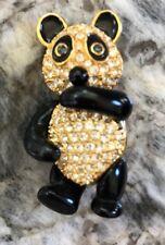 Panda Bear Pin Joan Rivers Crystal